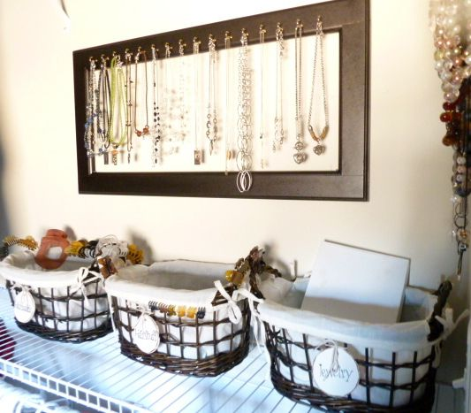 Use Old Cabinet Door To Make Jewelry Organizer