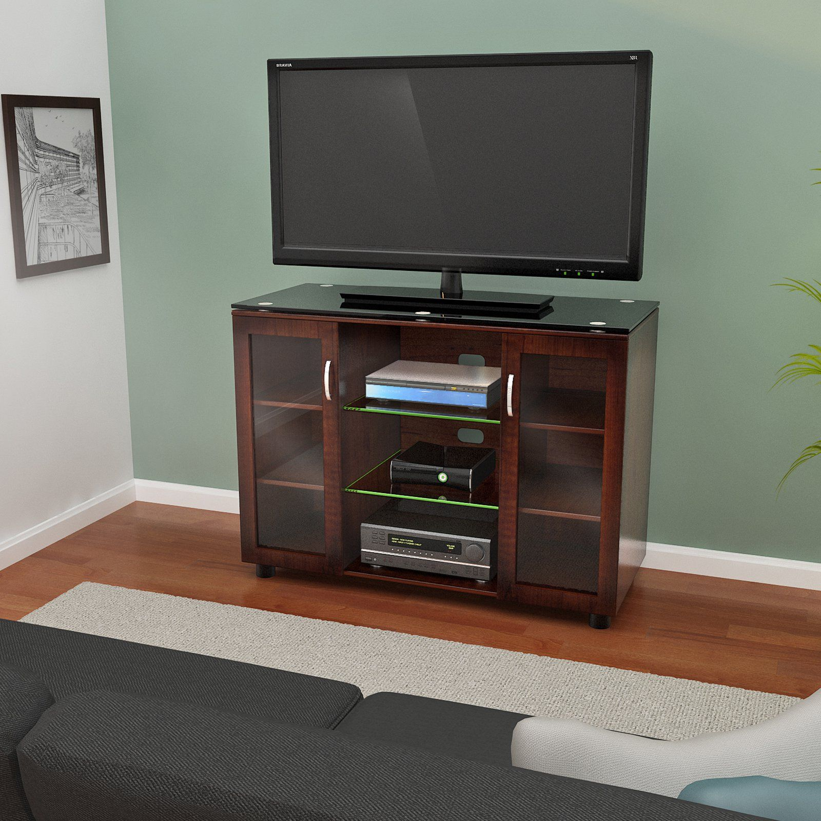 z line merako highboy tv console espresso from tv console. Black Bedroom Furniture Sets. Home Design Ideas