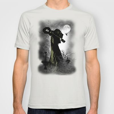 The Darkest night (track 1) T-shirt by Viviana González - $22.00