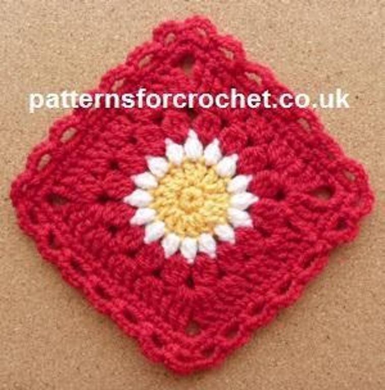 Pfc225 Sunburst Square Crochet Pattern Craftsy Free Pattern