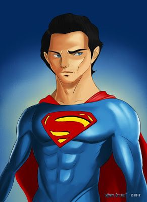 Xain Artist's folio: Superman