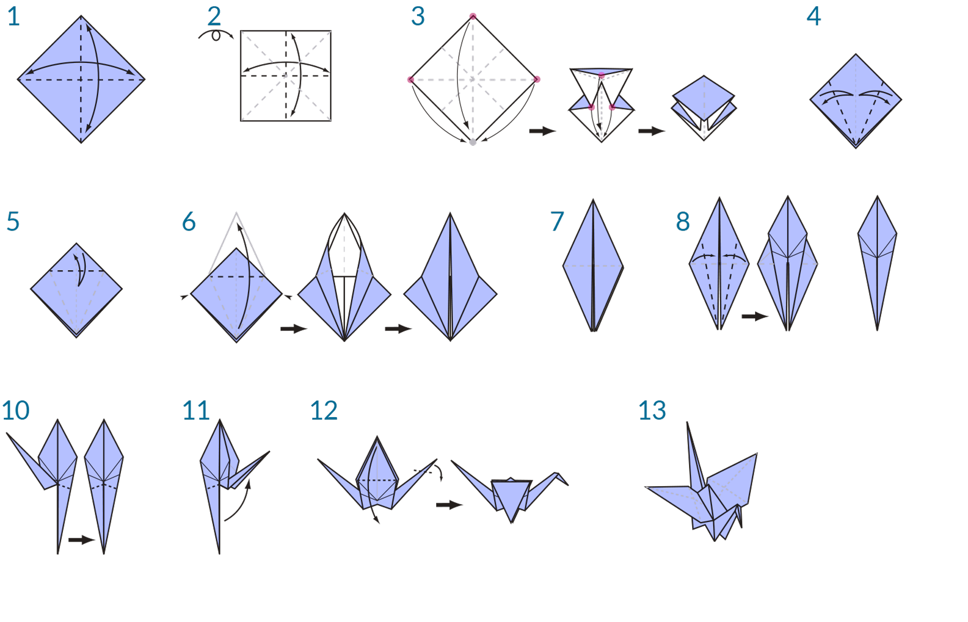 Origami Crane Instructions | Crafts | Pinterest | Projekte - photo#2