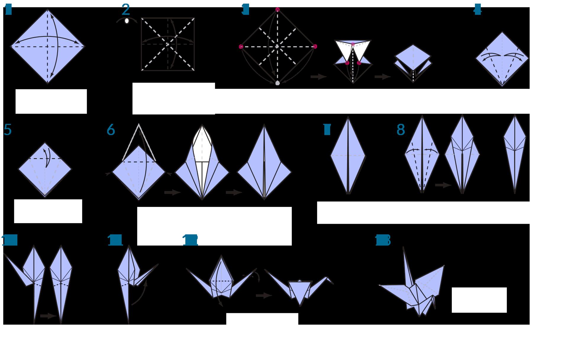 Origami Crane Instructions Origami Swan Instructions Origami