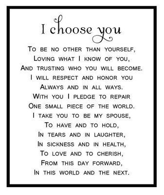 I Choose You This Is Beautiful Wedding Vows To Husband To My Future Husband Words