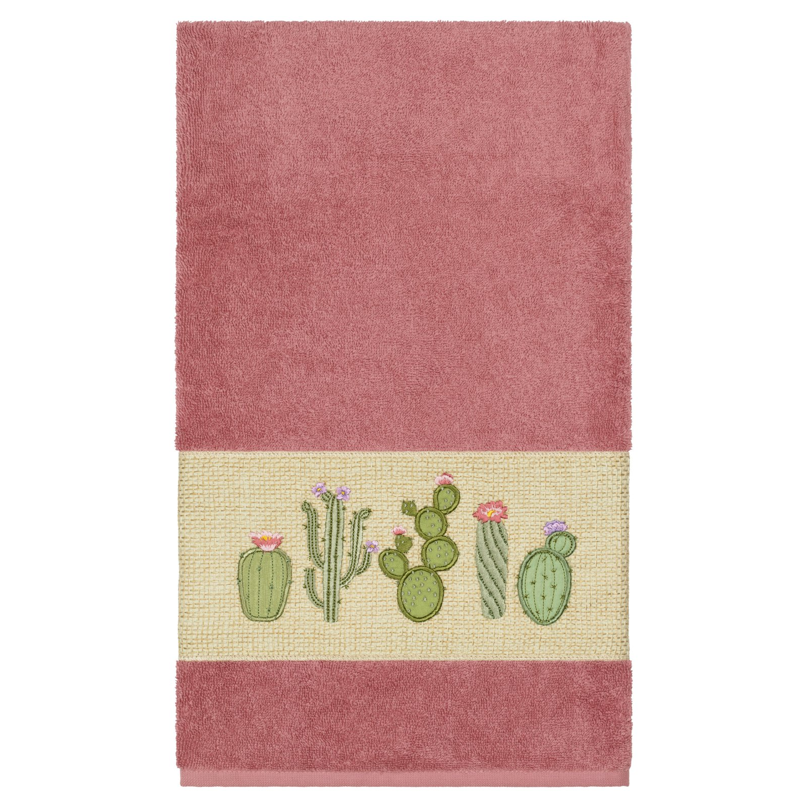 Linum Home Textiles Mila Embellished Turkish Cotton Bath Towel
