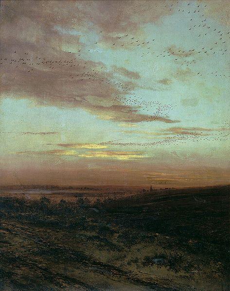 Alexei Savrasov (1830 - 1897) Evening Migration of birds 1874