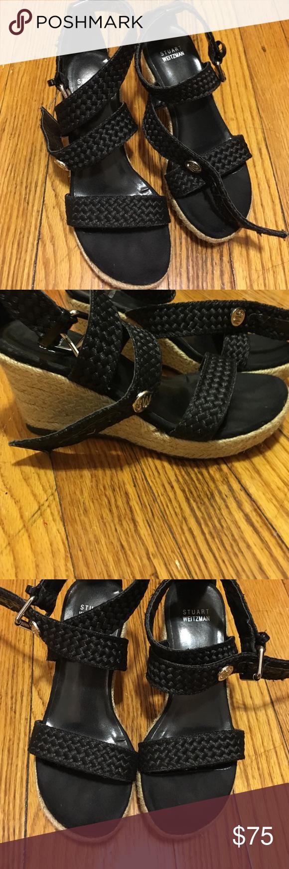Kids Stuart Weitzman Wedges Black weave wedges Stuart Weitzman Shoes Sandals & Flip Flops