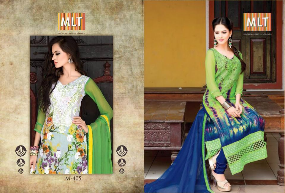 Add glamour and style with mlt ladies suits