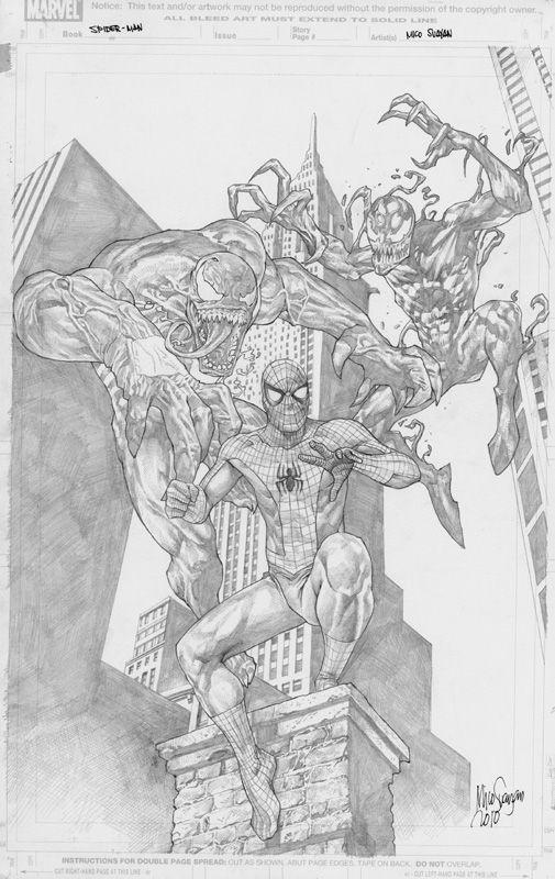 Mico Suayan Spider Man Venom Carnage By Comiconart