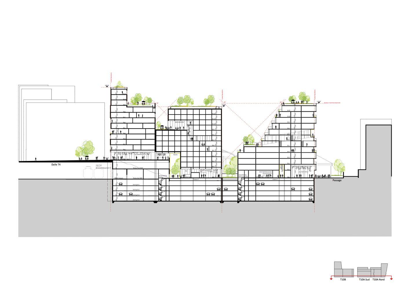 Galeria de SeARCH vence concurso habitacional em Paris - 4