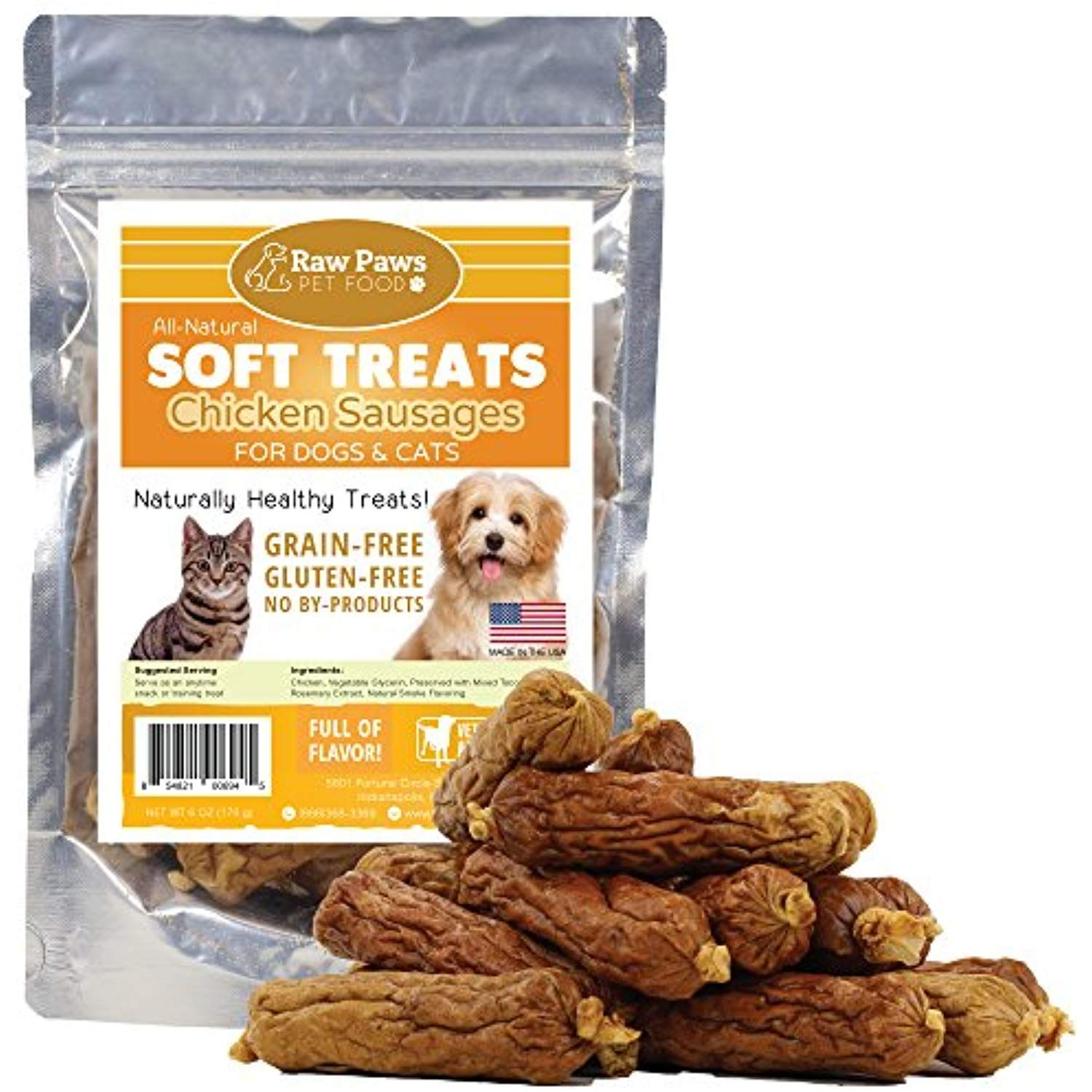Raw Paws Pet All Natural Soft Dogs Treats And Cat Treats 6 Ounce
