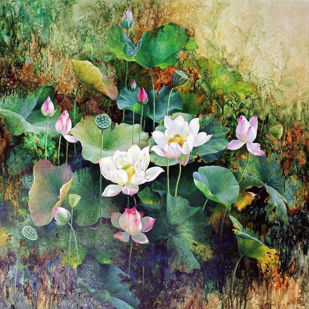 Chinese lotus painting lotus painting in 2018 pinterest lotus chinese lotus painting izmirmasajfo