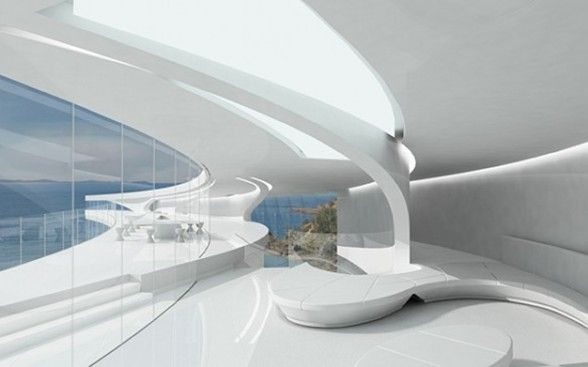 futuristic house interior. futuristic dream house interior  Final Project Inspiration