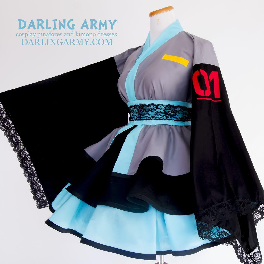Digital Pop Star Cosplay Kimono Dress in 2020 | Cosplay ...