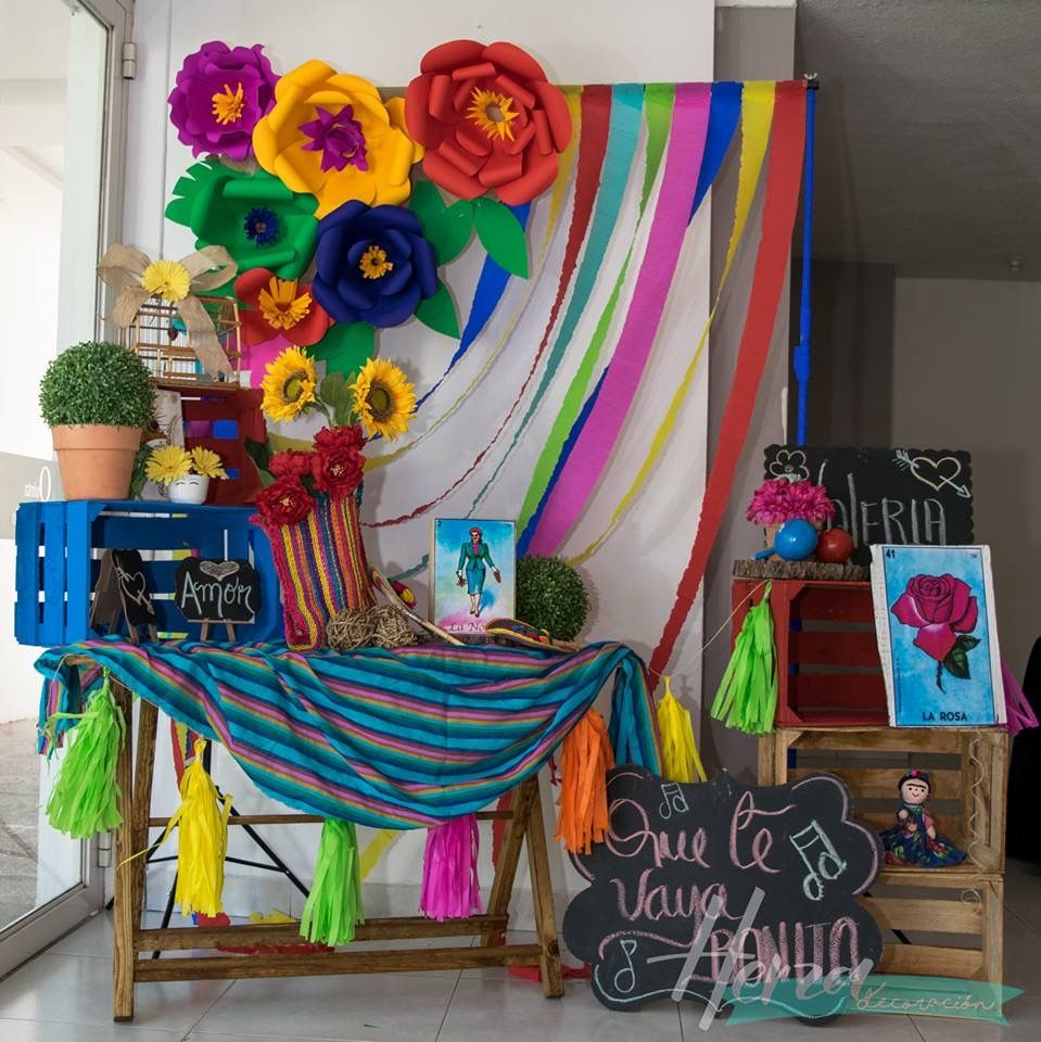Pin de claudia mendoza en fiesta mexicana pinterest for Decoracion kermes mexicana