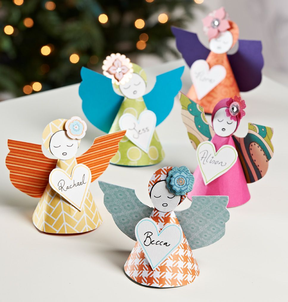 Paper angels with pattern christmas karcsony pinterest paper angels with pattern jeuxipadfo Images