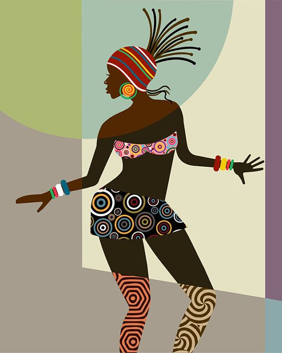 African Woman African American Art Black Woman by iQstudio