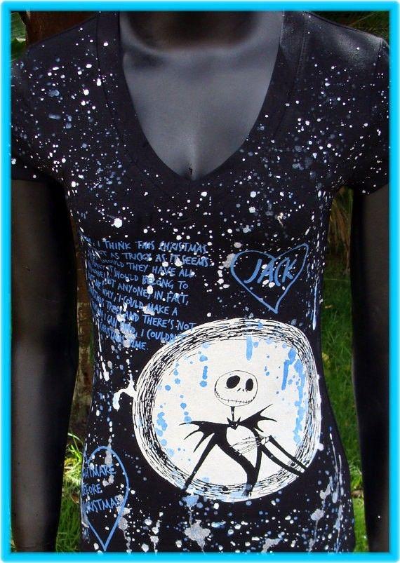 Halloween DiY The Nightmare before Christmas Top Jack Skellington You choose the size #2014 #Diy #Halloween #Costume#
