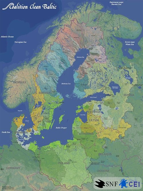 Rivers of the Baltic Sea Map | Mapquest | Pinterest | Map, Baltic ...