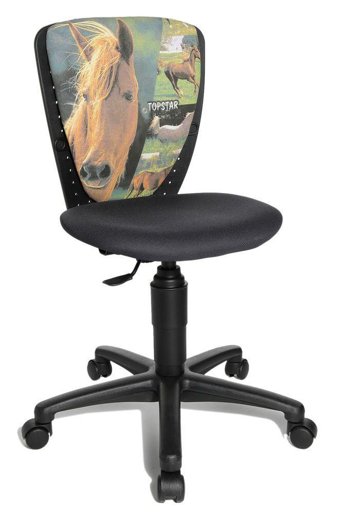 Kinder Schreibtischstuhl Stuhl Büro Drehstuhl Topstar S´cool Horse ...