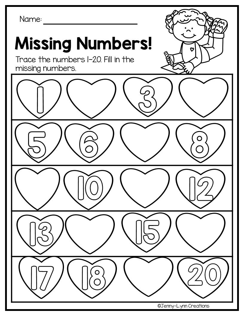 Download Kindergarten February Morning Worksheets Gif