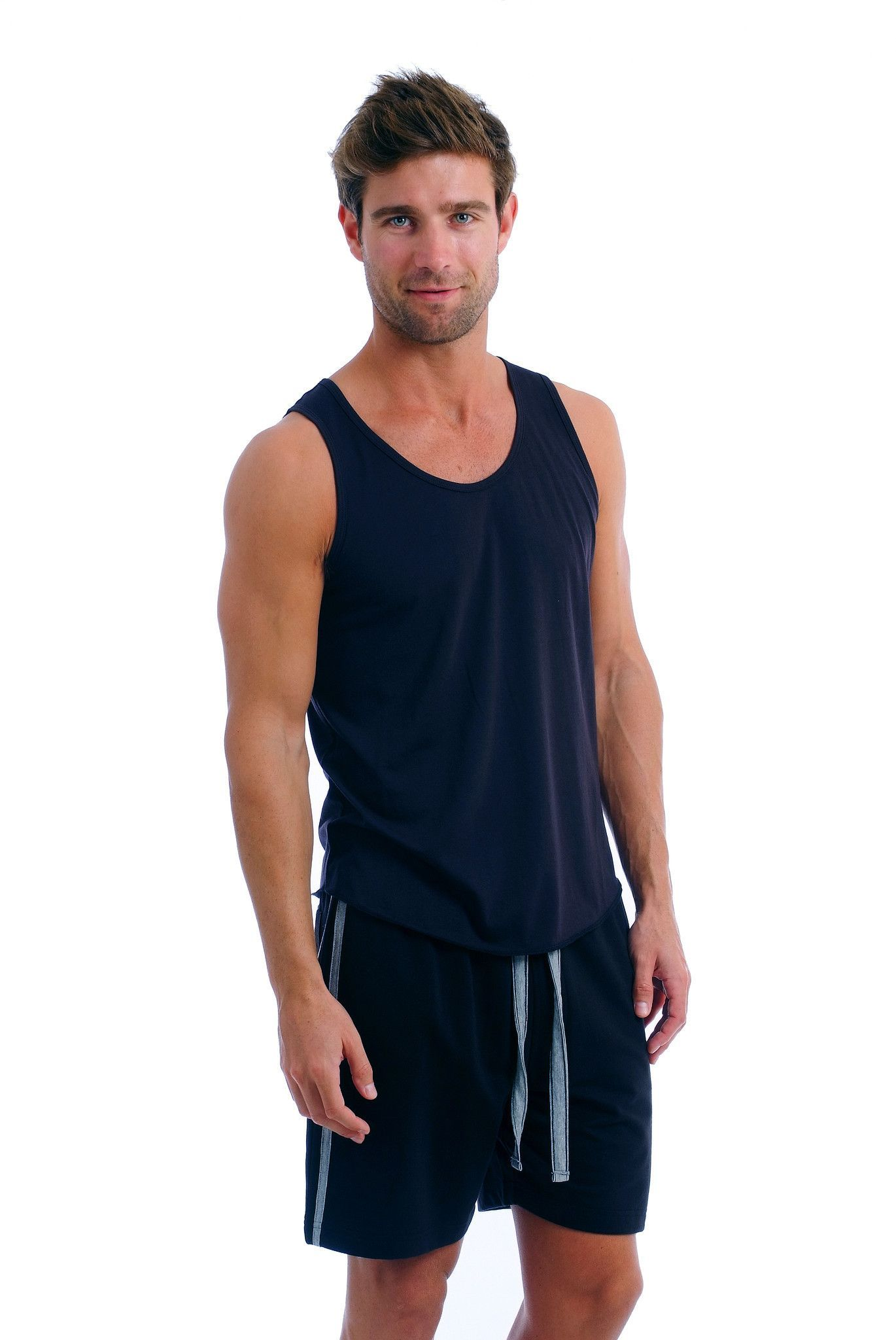 Soft Fitted Cotton Men's Tank Top Athletic tank tops
