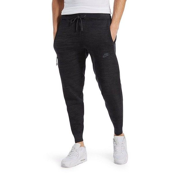 Nike Tech Knit Libero Pants (€160) ❤ liked on Polyvore featuring men's fashion, men's clothing, men's activewear, men's activewear pants and black