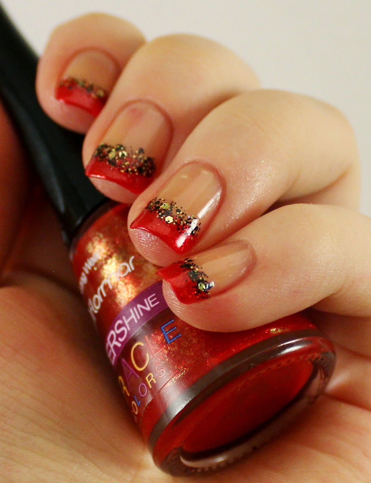 Goodly Nails: Punaista glitterillä
