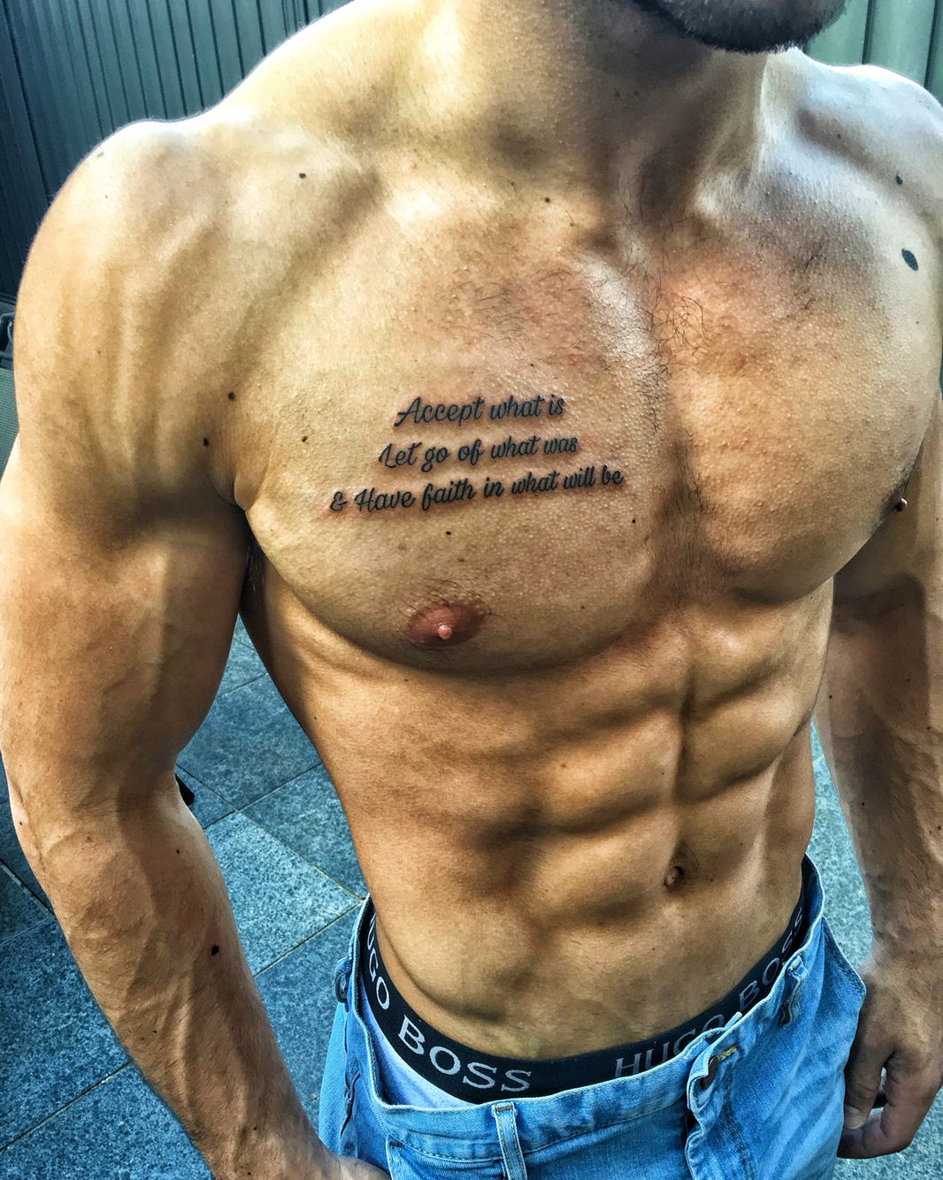 Tattoo quote chest … Chest tattoo quotes, Chest tattoo