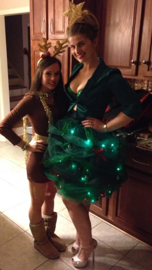 Diy christmas tree costumes