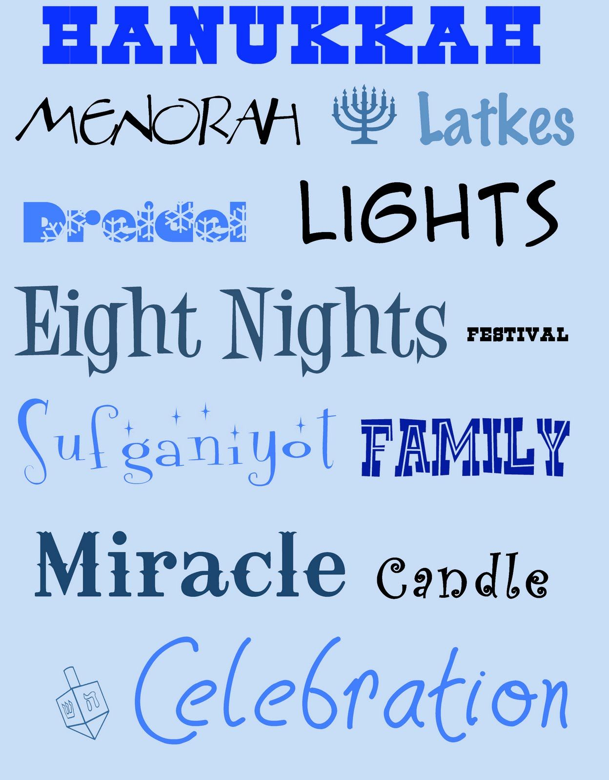 The Project Spot Hanukkah Subway Art Hanukkah Cards Food Misc