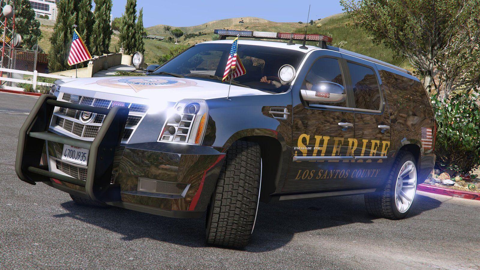 Cadillac Escalade ESV 2012 Police Version - GTA5   Cops, Cop Cars