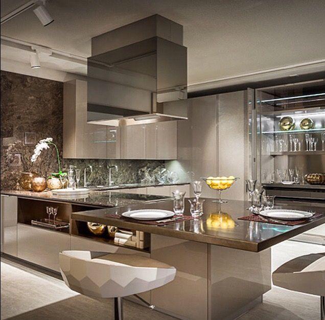 Cozinha luxuosa em laca decor pinterest cozinha - Bancadas de cocina ...