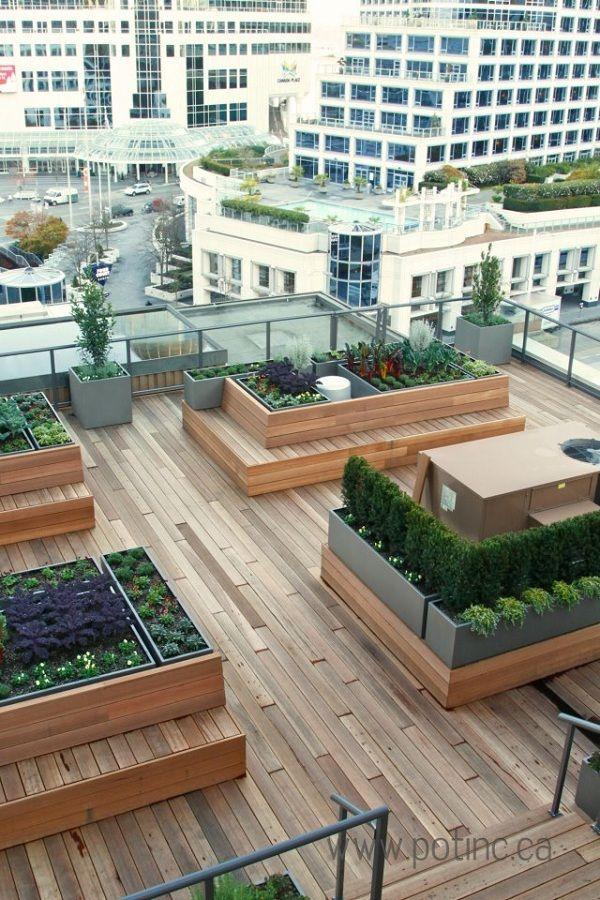 Bilderesultat for design rooftop garden takterrasse for Terrace roof ideas
