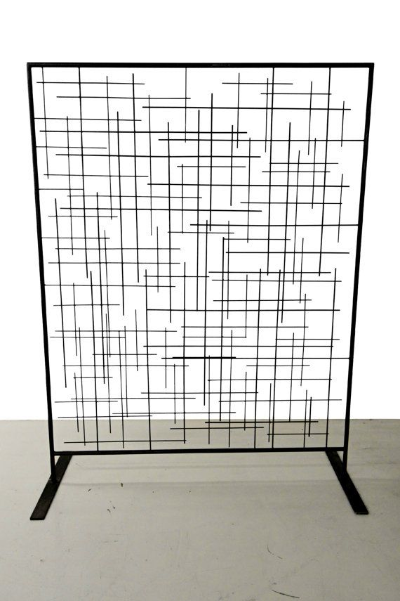 Custom Metal Matchstick Sculptural Art Free Standing Screen Room