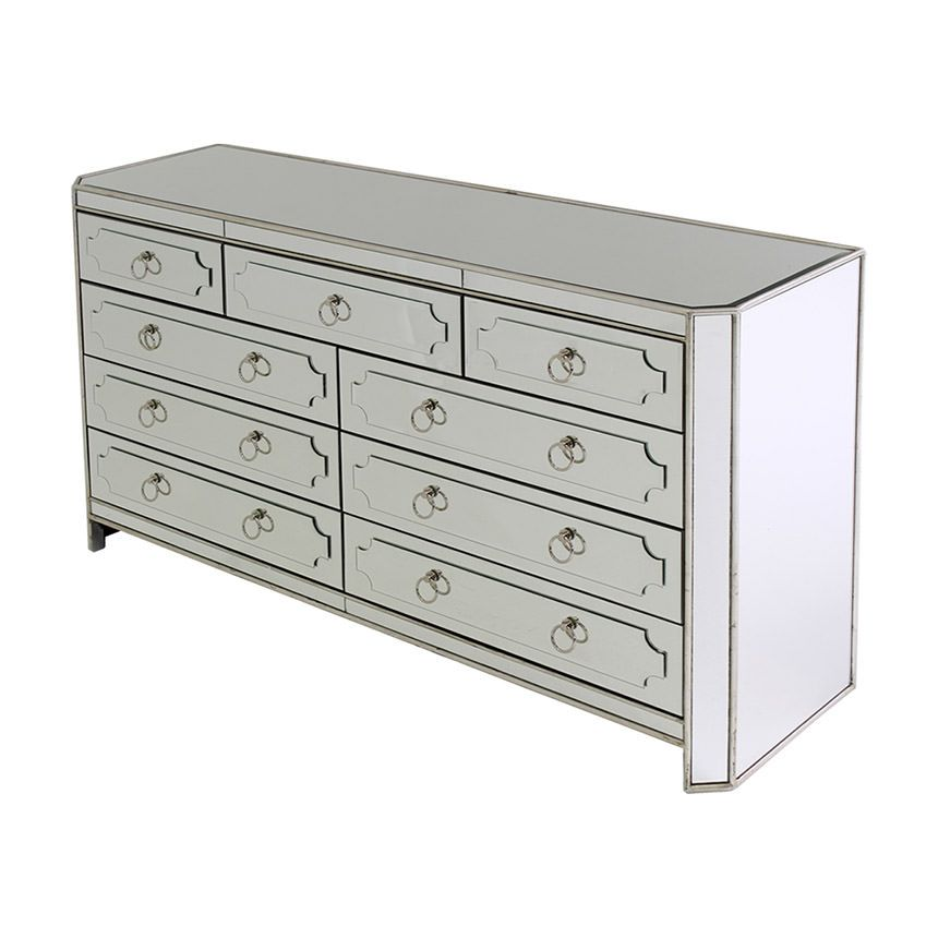 Chapman 9 Drawer Mirrored Dresser Dresser With Mirror Family Room Layout Drawers