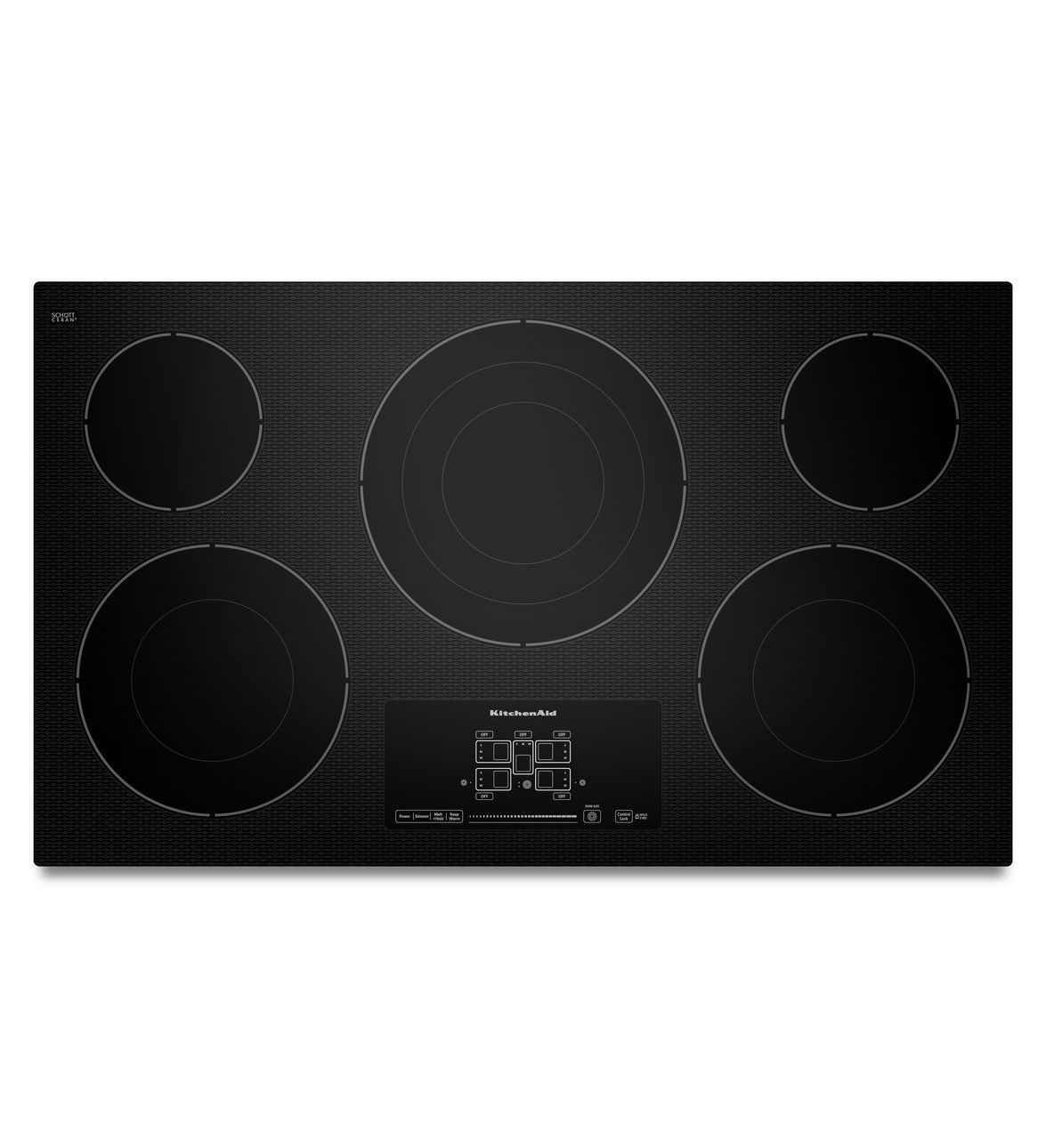 Kitchenaid 36 Inch 5 Element Electric Cooktop With Even Heat Technology And Touch Activated Controls Electric Cooktop Kitchen Aid Glass Cooktop