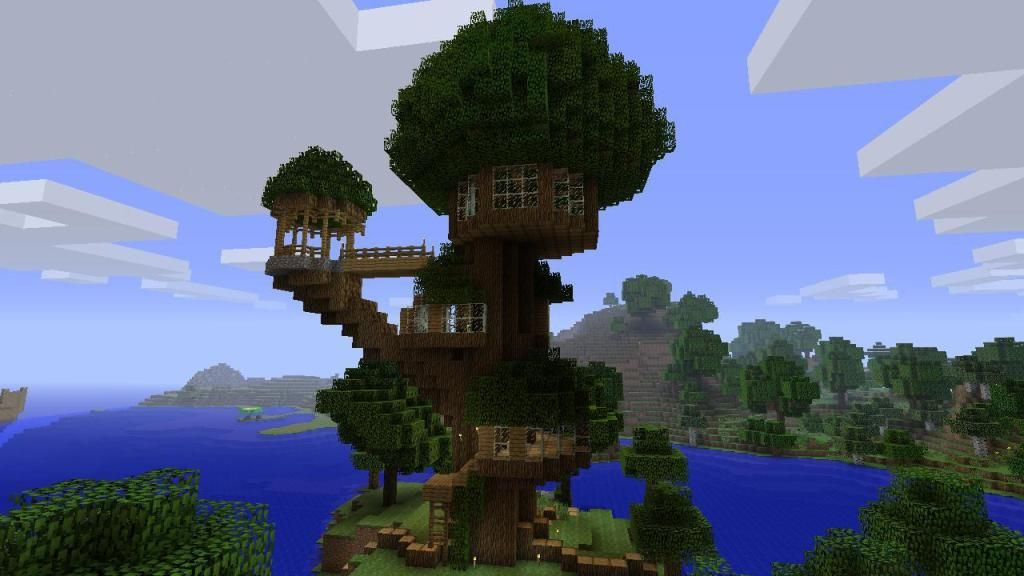 minecraft treehouse - Google Search | Minecraft ...