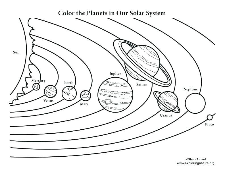 Printable: Unbelievable Solar System Printable Coloring