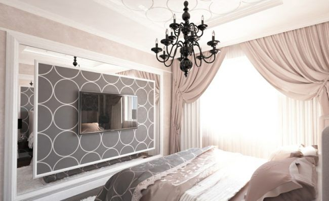 schlafzimmer vorhang design raumgestaltung in 50 ideen einrichtungs ideen pinterest. Black Bedroom Furniture Sets. Home Design Ideas