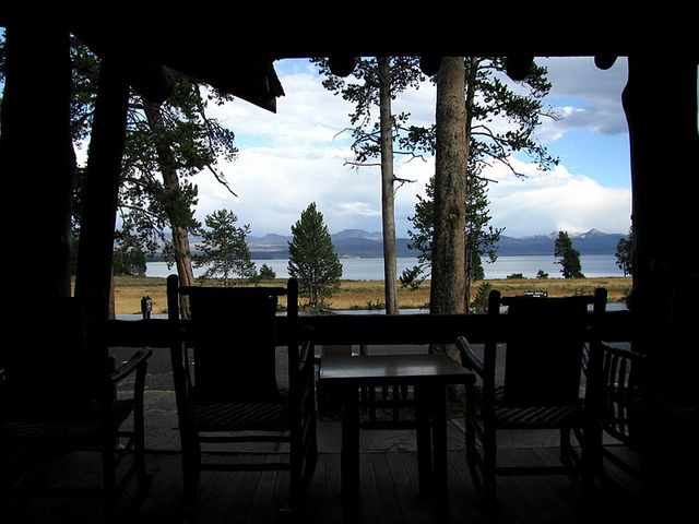 Yellowstone Lake From Porch Of The Lake Lodge. Stayed Here In A Western  Cabin.
