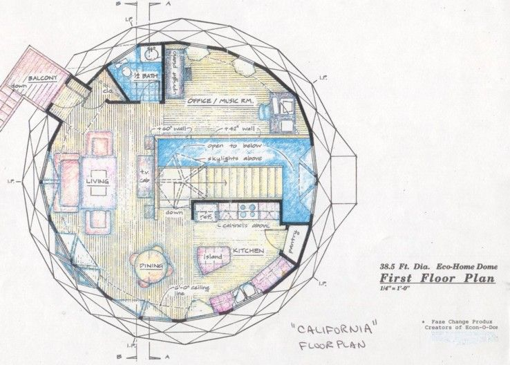 Do It Yourself Floor Plans: Earth Bermed Home, Earth Sheltered Home, Dome Home, Dome