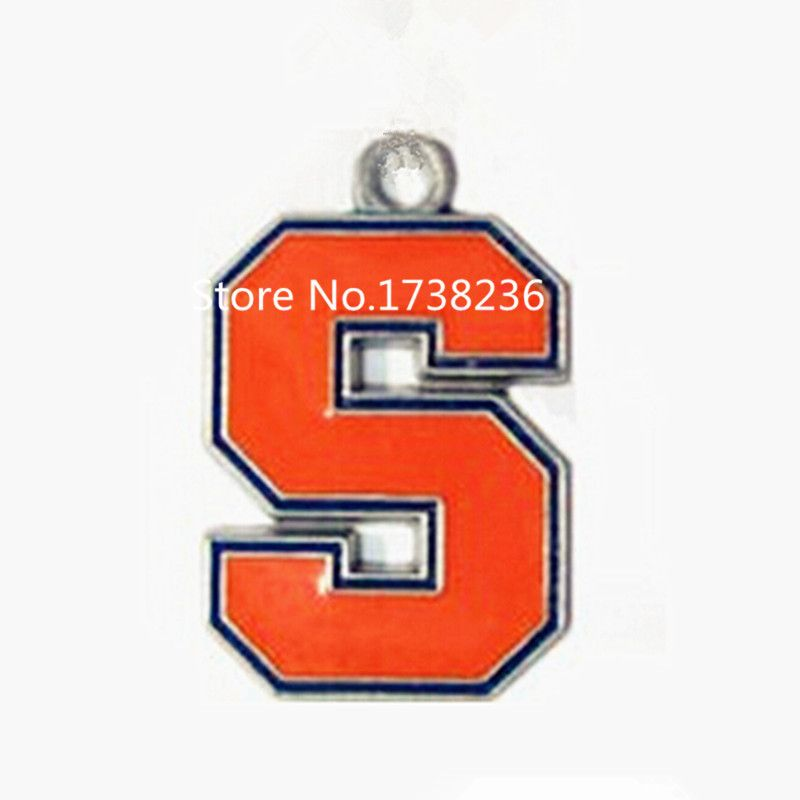 High Quality Alloy Enamel Color 50 pcs/lot Jewelry Making Team Logo Syracuse Charm