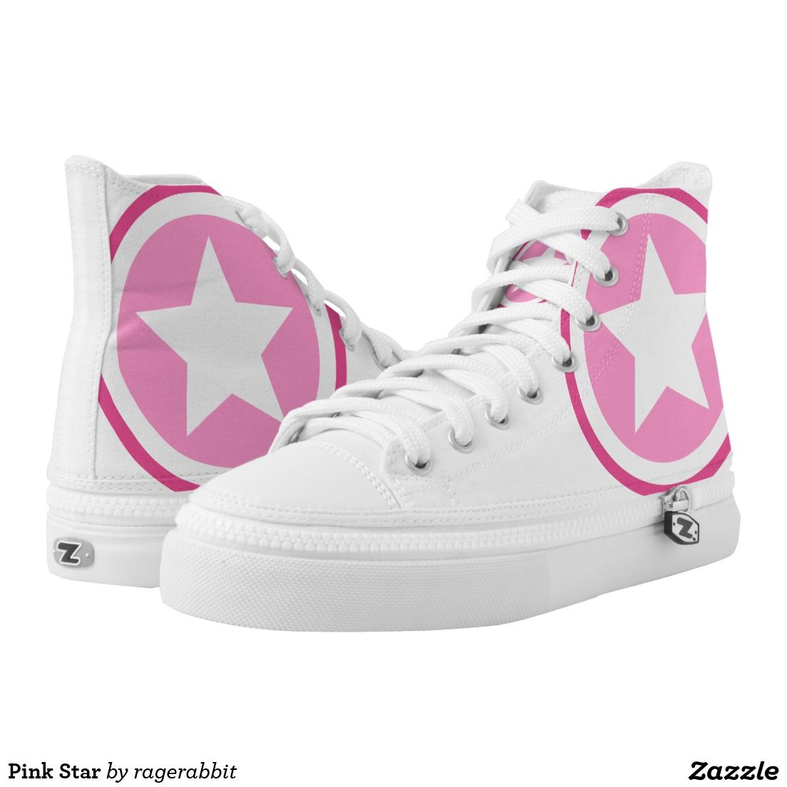 Pink Star Printed Shoes