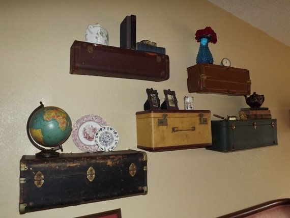 Vintage Suitcases Turned Into Shelves! Images