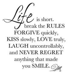 Life is short | Short poems about life, True words, Funny ...
