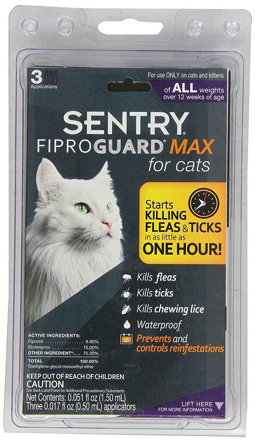 Sentry Fiproguard Max For Cats All Weights Over 12 Weeks Old Cats Accessories With Images Cat Fleas Fleas Flea And Tick