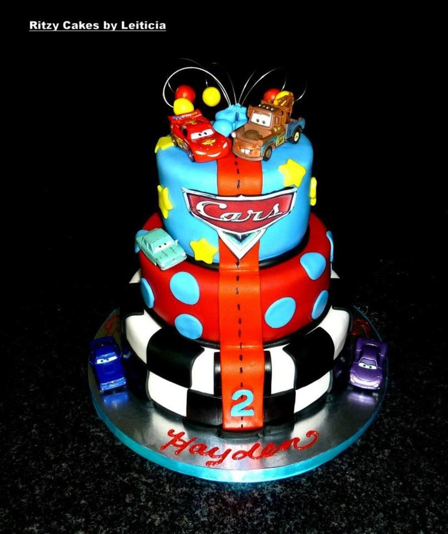 Disney Cars Cake By Leiticia Rice on Cake Central cars for