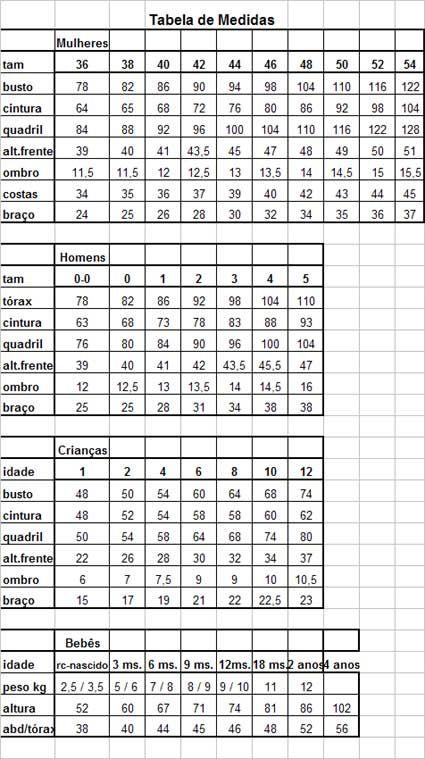 090563086 tabela de medidas blusas femininas - Pesquisa Google