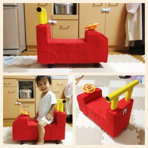 牛乳パックで 手作りの車 段ボールのプレイハウス 手作りおもちゃ 牛乳パック 赤ちゃん 手作り プレゼント